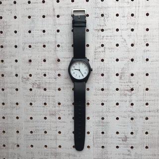 ムジルシリョウヒン(MUJI (無印良品))の【USED】無印良品 Solar Watch 黒 バンド黒革 MJ-SWB1(腕時計)