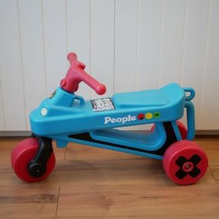美品☆ピープル☆公園レーサー☆ミニバイク(三輪車)
