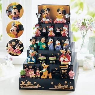 ディズニー(Disney)のディズニー 壇付き おひなさま フルセット (人形)