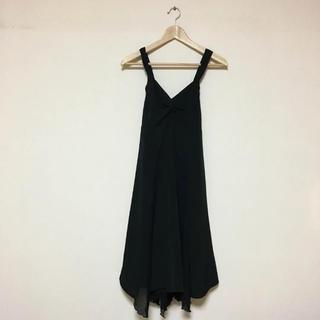 バビロン(BABYLONE)のバビロン コサージュ付きワンピース ドレス ブラック(ひざ丈ワンピース)
