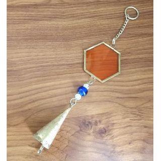 スタディオクリップ(STUDIO CLIP)のガラスウィンドウチャイム オレンジ(風鈴)
