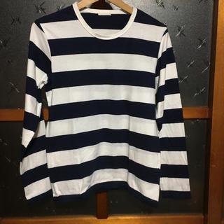 ジーユー(GU)のGU  ボーダー長袖Tシャツ(Tシャツ/カットソー(七分/長袖))