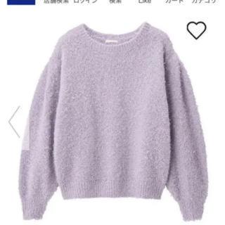 ジーユー(GU)のGU パープル ニット(ニット/セーター)