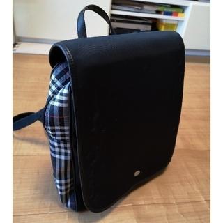 45e26baec7fa バーバリー(BURBERRY)のバーバリー ロンドン リュックサック バッグ 黒 チェック柄 鞄 ジャンク(
