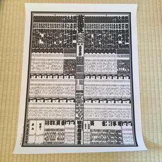 大相撲 番付表(相撲/武道)