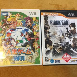 ウィー(Wii)の任天堂wii 人気ソフト 人生ゲーム&バイオハザードセット(家庭用ゲームソフト)