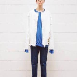 アンユーズド(UNUSED)のkiki様専用unused ノーカラージャケット ホワイト Mサイズ(ノーカラージャケット)