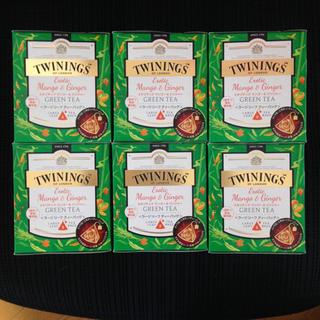 6箱セット ★ トワイニング エキゾチック マンゴー&ジンジャー グリーンティー(茶)