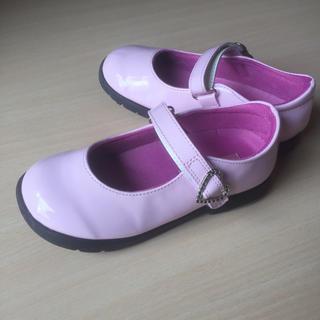 アスビー(ASBee)のフォーマルシューズ 19.5cm20cm ピンク ハート 女の子 入学式 卒園式(フォーマルシューズ)