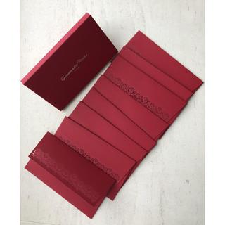 ジャンヴィットロッシ(Gianvito Rossi)のジャンヴィトロッシ ロゴ入り 真っ赤な封筒 ノベルティ(ハイヒール/パンプス)