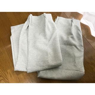 ムジルシリョウヒン(MUJI (無印良品))の[TL様専用]無印良品 二重織プリーツカーテン 防炎遮光 ライトグレー(カーテン)