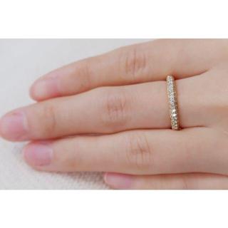 K18 GINZA TANAKA ダイヤモンド 0.40ct ハーフエタニティ(リング(指輪))