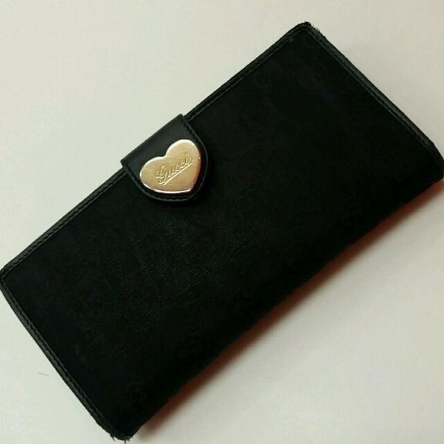 new styles d867b 18833 GUCCI 長財布 ハートプレート♥黒 | フリマアプリ ラクマ