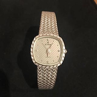 シーマ(CYMA)のCYMA シーマ★レディース 腕時計 天然ダイヤ4p入り クオーツ(腕時計)