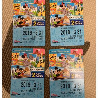 ディズニー(Disney)のディズニー リゾートライン 2days 4枚(鉄道乗車券)