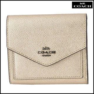 5f5cfbb2fad2 コーチ(COACH)のコーチ COACH 59972 GMO3Z メタリック 三つ折りミニ財布SALE(