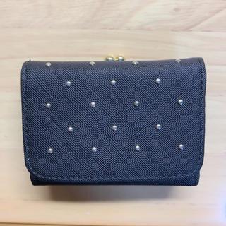 シマムラ(しまむら)の二つ折り財布 がま口 ブラック(財布)