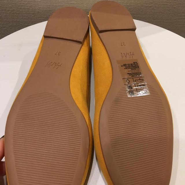 H&M(エイチアンドエム)のH&M  バレエシューズ リボン フラットシューズ 未使用 レディースの靴/シューズ(バレエシューズ)の商品写真