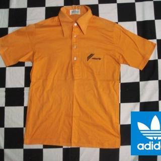 アディダス(adidas)の【アディダス】70sビンテージポロシャツLオレンジジャージ(ポロシャツ)