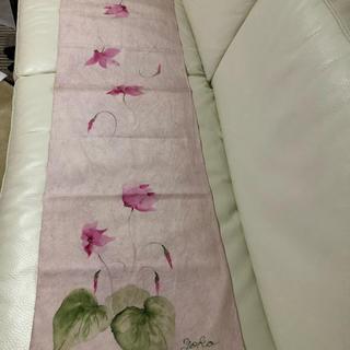ハンドメイド シルク手描きスカーフ シクラメン(スカーフ)