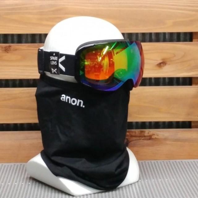 anon アノン【M2】黒/緑 スペアレンズ・フェイスマスク付き 日本正規品 スポーツ/アウトドアのスノーボード(アクセサリー)の商品写真