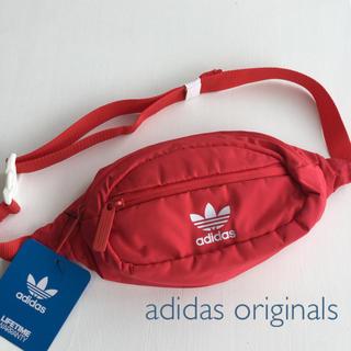 アディダス(adidas)のadidas originals♪ ユニセックスナイロンウエストポーチ/レッド(ウエストポーチ)
