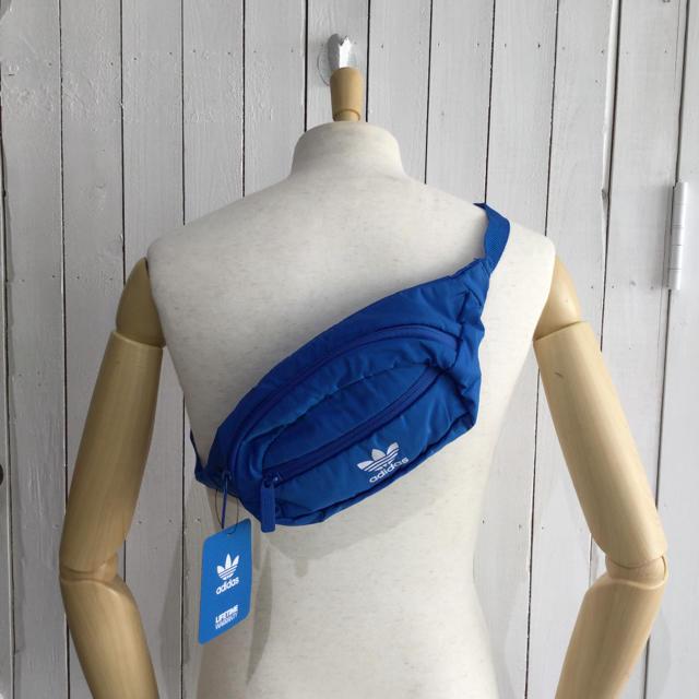 adidas(アディダス)のadidas originals♪ ユニセックスナイロンウエストポーチ/ブルー メンズのバッグ(ウエストポーチ)の商品写真