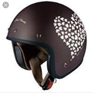 オージーケーカブト バイクヘルメット ジェット フラットハート 54-55