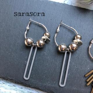 431 silver  hoop×silver  ball earrings(ピアス)