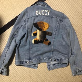 グッチ(Gucci)のGUCCI  デニムジャケット テディベア 44(Gジャン/デニムジャケット)