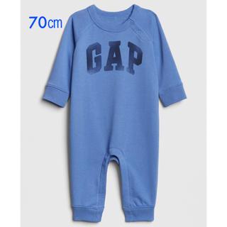 ベビーギャップ(babyGAP)の『新品』babyGap 男の子向 ロゴ 長袖ロンパース 70㎝サイズ(ロンパース)