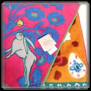 ヴィヴィアンウエストウッド(Vivienne Westwood)の④ ヴィヴィアン 新品 Vivienne タオルハンカチ 2枚 うさぎ オーブ(ハンカチ/ポケットチーフ)
