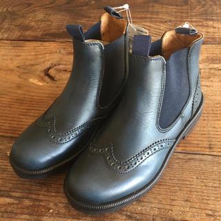 ボンポワン(Bonpoint)の定価2.9万 伊勢丹取扱 新品サイドゴアブーツ 17 17.5 子供靴(ブーツ)