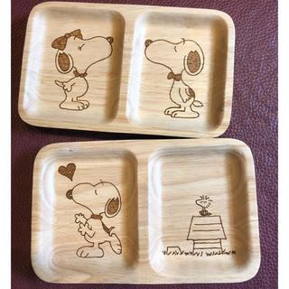 スヌーピー(SNOOPY)のウッドバーニング プレート皿 スヌーピー (食器)