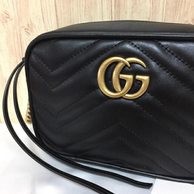 feab23728d40 Gucci(グッチ)のGucci ggマーモント レザー ショルダーバッグ 新品 レディースのバッグ(