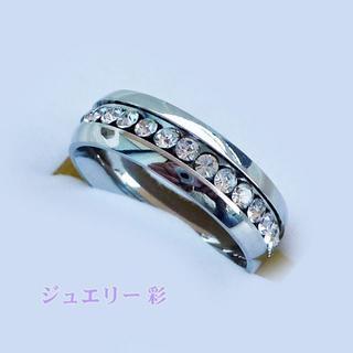 フルエタニティ―チタンリング♪シルバー 16号 送料無料(リング(指輪))