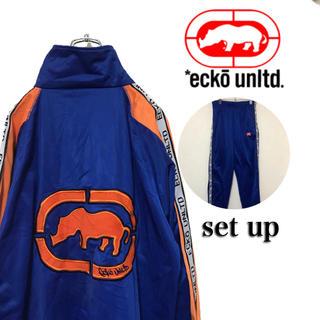 エコーアンリミテッド(ECKŌ UNLTD(ECKO UNLTD))のECKO エコーアンリミテッド トラックトップ セットアップ ビッグロゴ (ジャージ)