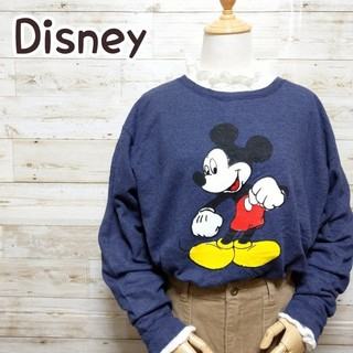 ディズニー(Disney)のディズニー Disney ヘインズ ミッキー ネイビー トレーナー(スウェット)