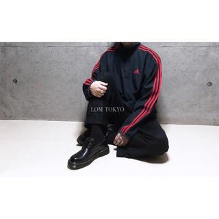 [used]'adidas' red line half-zip jacket.(ジャージ)
