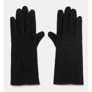 ザラ(ZARA)の新品 ZARA 手袋 黒 ブラック ウール78%(手袋)