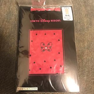 ディズニー(Disney)の新品 タイツ ディズニー ミニー リボン ストーン付 ドット(タイツ/ストッキング)
