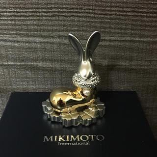 ミキモト(MIKIMOTO)の【未使用】ミキモト メッセージスタンド うさぎ(置物)