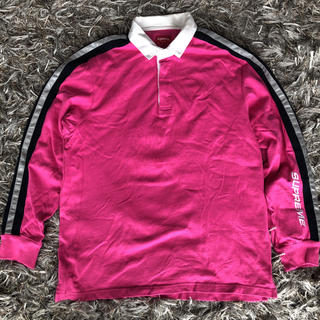 シュプリーム(Supreme)の即発送 シュプリーム  ラガーシャツ ピンク(ポロシャツ)