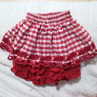 シャーリーテンプル(Shirley Temple)の80 シャーリーテンプル スカート スカッツ スカパン 赤 チェック チェリー(スカート)