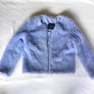 アイスブルーファージャケット(毛皮/ファーコート)
