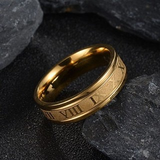 ⏹️✨★人気商品★✨⏹️ゴールドステンレスリング(リング(指輪))