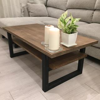 棚付き ローテーブル ★ おしゃれ サイズオーダー シンプル 人気 テーブル(ローテーブル)