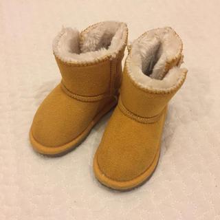 フタフタ(futafuta)のブーツ ボア ムートン 黄色 ミッキー コスプレ(ブーツ)