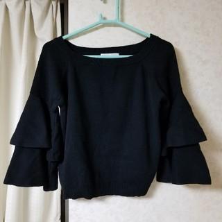 アンドクチュール(And Couture)のアンドクチュール 袖フリルニット(ニット/セーター)