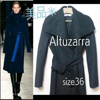 アルチュザラ(Altuzarra)のリステア購入 Altuzarra アルチュザラバージンウール ローブ 36 RN(ロングコート)